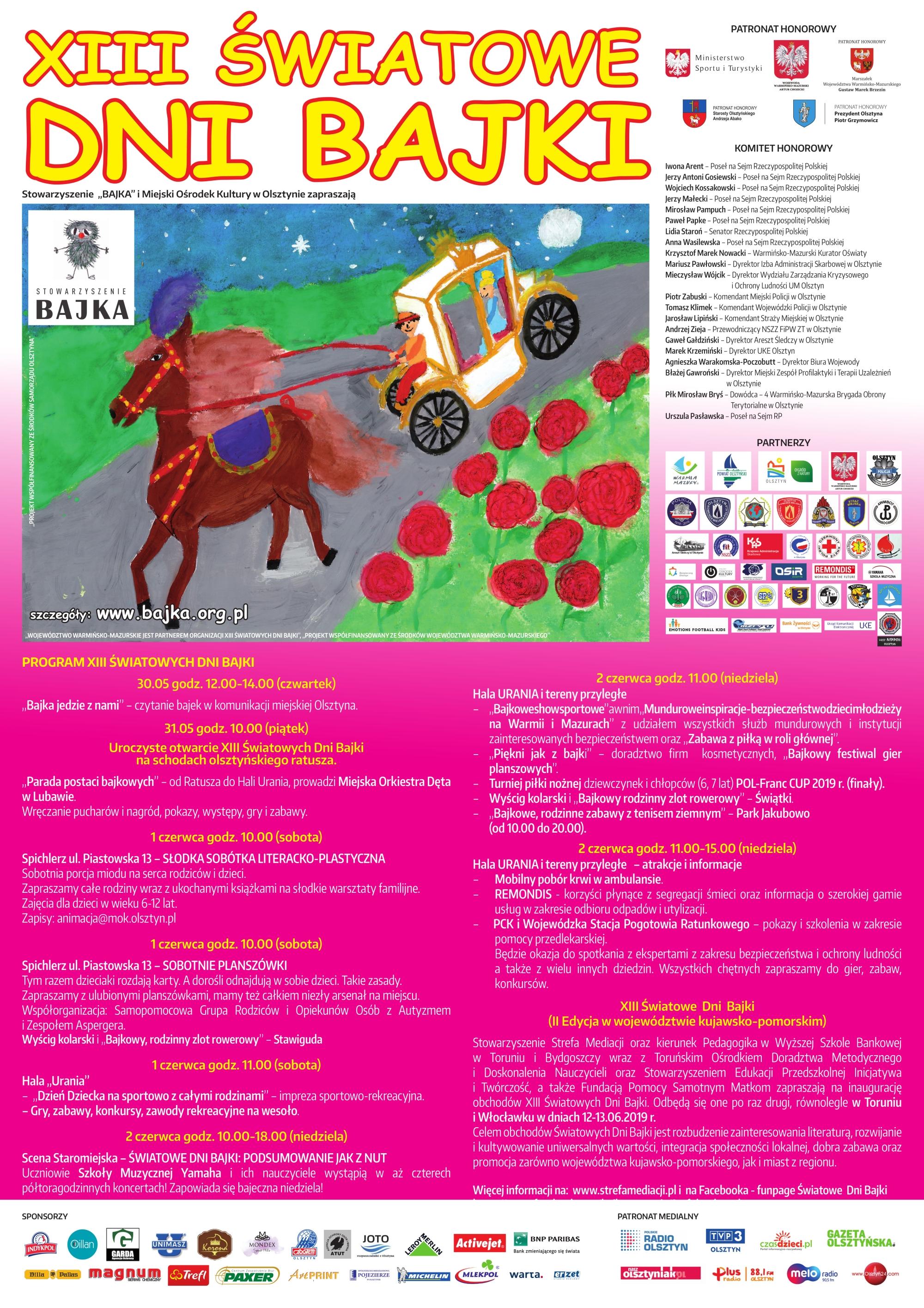 Plakat Xiii światowych Dni Bajki